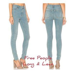 Free People Denim Leggings High Rise Skinny 30